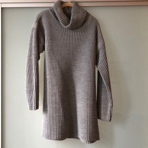 Boohoo Grey Cowl Neck Sweater Dress